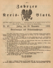 Zabrzer Kreis-Blatt, 1906, St. 48