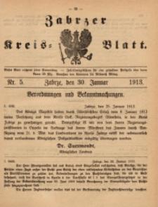 Zabrzer Kreis-Blatt, 1913, St. 5