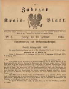 Zabrzer Kreis-Blatt, 1913, St. 8