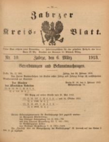 Zabrzer Kreis-Blatt, 1913, St. 10