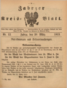 Zabrzer Kreis-Blatt, 1913, St. 12