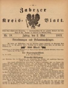 Zabrzer Kreis-Blatt, 1913, St. 18