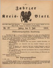 Zabrzer Kreis-Blatt, 1913, St. 27