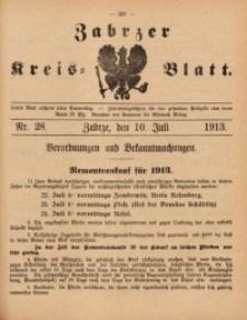 Zabrzer Kreis-Blatt, 1913, St. 28