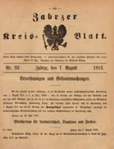 Zabrzer Kreis-Blatt, 1913, St. 32