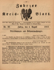 Zabrzer Kreis-Blatt, 1913, St. 36