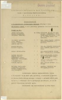 Protokół z 94 posiedzenia Zjednoczenia Głównego Syndykatu Polskich Hut Żelaznych, odbytego w dniu 23.01.1935 r. w Katowicach