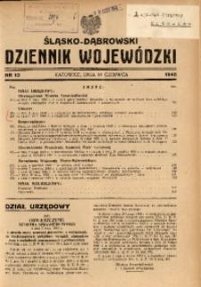 Śląsko-Dąbrowski Dziennik Wojewódzki, 1945, nr 13