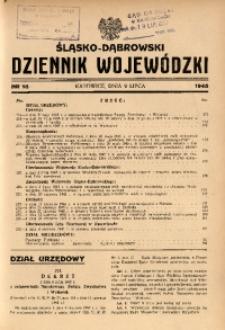 Śląsko-Dąbrowski Dziennik Wojewódzki, 1945, nr 16