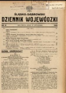 Śląsko-Dąbrowski Dziennik Wojewódzki, 1945, nr 31