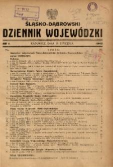 Śląsko-Dąbrowski Dziennik Wojewódzki, 1946, nr 1