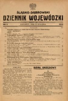 Śląsko-Dąbrowski Dziennik Wojewódzki, 1946, nr 2