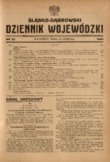 Śląsko-Dąbrowski Dziennik Wojewódzki, 1946, nr 22