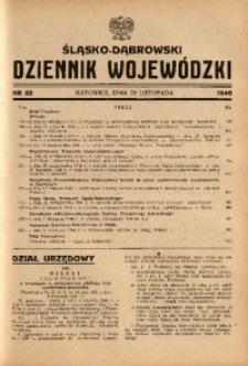 Śląsko-Dąbrowski Dziennik Wojewódzki, 1946, nr 32