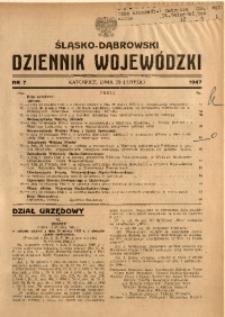 Śląsko-Dąbrowski Dziennik Wojewódzki, 1947, nr 7