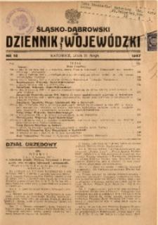Śląsko-Dąbrowski Dziennik Wojewódzki, 1947, nr 18