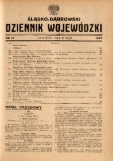 Śląsko-Dąbrowski Dziennik Wojewódzki, 1947, nr 19