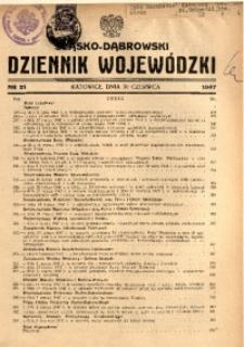 Śląsko-Dąbrowski Dziennik Wojewódzki, 1947, nr 21
