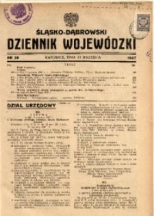 Śląsko-Dąbrowski Dziennik Wojewódzki, 1947, nr 28