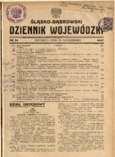 Śląsko-Dąbrowski Dziennik Wojewódzki, 1947, nr 30
