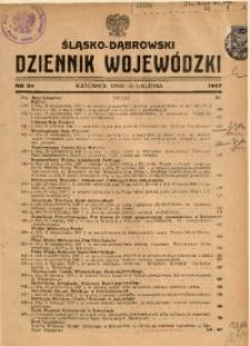 Śląsko-Dąbrowski Dziennik Wojewódzki, 1947, nr 34