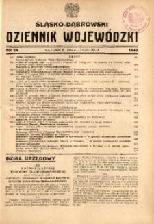 Śląsko-Dąbrowski Dziennik Wojewódzki, 1948, nr 24