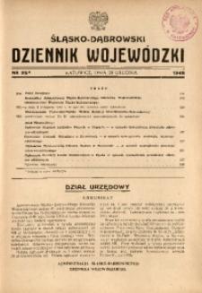 Śląsko-Dąbrowski Dziennik Wojewódzki, 1948, nr 25