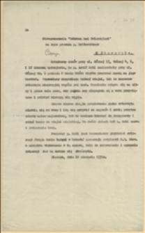 Doniesienie na Adolfa Mehla z Cieszyna znęcającego się nad koniem nieposiadającym stajni - Cieszyn, 18.08.1930 r.