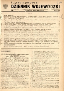 Śląsko-Dąbrowski Dziennik Wojewódzki, 1949, nr 4