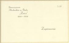 """Zaproszenie na tradycyjny bal Stowarzyszenia Akademików ze Śląska """"Znicz"""" w dniu 05.01.1934 r. w Cieszynie"""