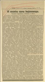 W rocznicę czynu legjonowego. Wymarsz Legjonistówz Dziedzic w 1914 r. ...