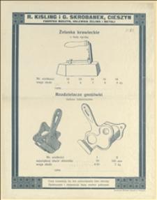 "Katalog wyrobów firmy ""Rajmund Kisling & Gustaw Skrobanek"""