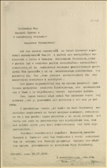 Protest konferencji kobiet w Cieszynie przeciw nie włączeniu D. Kłuszyńskiej do liczby posłów Śląska Cieszyńskiego w Sejmie Polskim - Cieszyn, 13.04.1919 r.