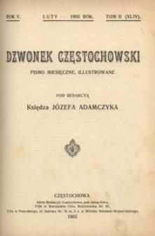 Dzwonek Częstochowski : pismo miesięczne, illustrowane. 1905, R.5, T.2(44) - luty