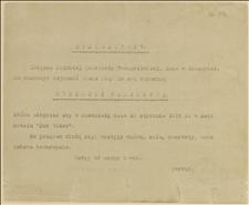 """Zaproszenie na """"Herbatkę Familijną"""" Związku Polskiej Młodzieży Ewangelickiej, Koło w Cieszynie w dniu 13.01.1915 r."""