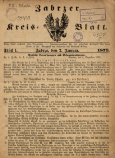 Zabrzer Kreis-Blatt, 1879, St. 1