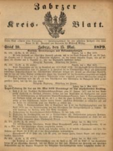 Zabrzer Kreis-Blatt, 1879, St. 20