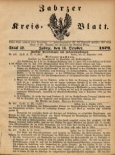 Zabrzer Kreis-Blatt, 1879, St. 42