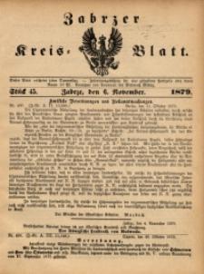 Zabrzer Kreis-Blatt, 1879, St. 45