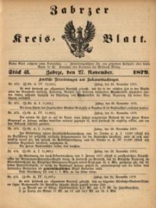Zabrzer Kreis-Blatt, 1879, St. 48