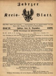 Zabrzer Kreis-Blatt, 1879, St. 50