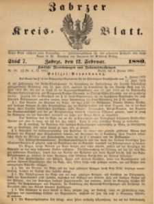 Zabrzer Kreis-Blatt, 1880, St. 7