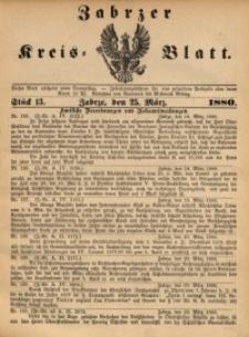 Zabrzer Kreis-Blatt, 1880, St. 13