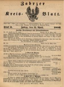 Zabrzer Kreis-Blatt, 1880, St. 16