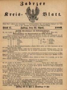 Zabrzer Kreis-Blatt, 1880, St. 17