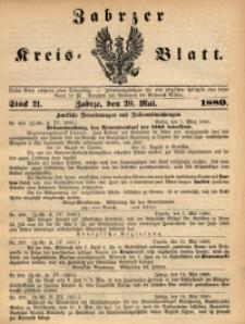 Zabrzer Kreis-Blatt, 1880, St. 21
