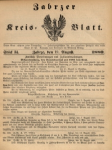 Zabrzer Kreis-Blatt, 1880, St. 34