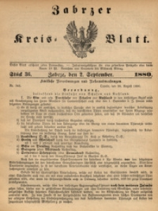 Zabrzer Kreis-Blatt, 1880, St. 36