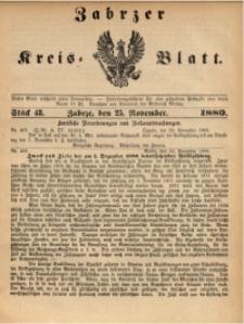 Zabrzer Kreis-Blatt, 1880, St. 48