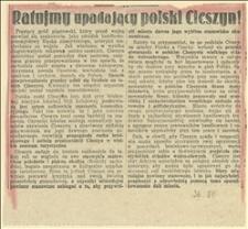 Ratujmy upadający polski Cieszyn! Prastary gród piastowski przed wojną rozwijał się znakomicie